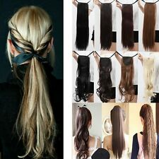 US hot sale Ponytail Clip in on Pony Tail Hair Extensions straight hair lin3