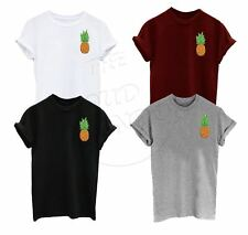 Pineapple Pocket Print Indie Hipster Urban Grunge Tumblr Unisex Tshirt Top