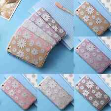 Girly Bling Daisy Flower PC+TPU Ultra Thin Phone Case For iPhone 6 6s/6 6s Plus