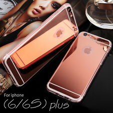 Luxury New Bling Ultra thin Mirror Metal Soft Case Cover for Apple iPhone Models