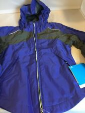 "Purple ""Wet Reflect"" Rain Jacket for Girls by Columbia Sportswear NWT Retail $50"