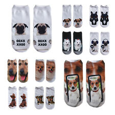 3D Fashion Printed Animal Women Dog Cute Casual Socks New Ankle Socks Low Cut