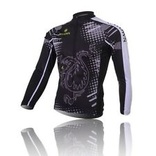 Men's Cycling Jersey Bicycle Long Sleeve Clothing Bike Tops Dragon-Tiger Winter