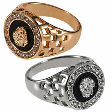 New Unique Design Crystal Gem Men's 18k Gold Plated Fashion Jewelry Ring F7