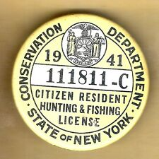 Vintage hunt badge for New york fishing license online
