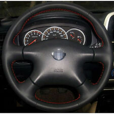 Anti Slip Black Leather Steering Wheel Stitch on Wrap Cover For Nissan Paladin