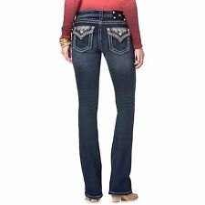 *NWT- MISS ME Sequins Midrise Women's Boot Cut Jeans - 25,26,27,28,29,30 & 31