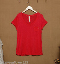 BNWT Lorna Jane Kim red Active Top Style Up Tee T-Shirt szXS/8/10,S10/12 RRP$39