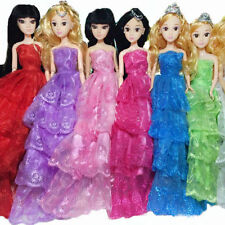 Handmade Fashion Princess Party Dress Wedding Clothes Gown For Barbie Doll Gift