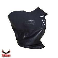 HUGGER Glove Company Motorcycle Biker Soft Leather Face Mask X-Protector
