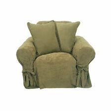 Classic Slipcovers Heavy Microsuede Chair Slipcover, Sage