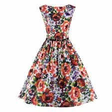 Fashion Floral Printed Fashion Women Swing Cocktail Dress Sexy Ladies Dress
