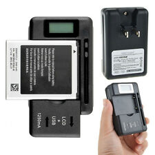 Mobile Universal Battery Charger LCD Indicator Screen USB-Port For Cell Phones