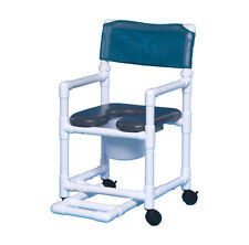 SOFT SEAT WHEELED ROLLING SHOWER  CHAIR COMMODE W/FOOTREST VL OF17 P FR G