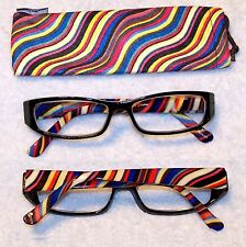 +0.75-+6.00 ILLUSIONS Calabria Multicolored Reading Glasses| Case|High&Low Power