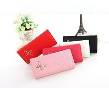 Stylish Fashion Women's Butterfly Decoration Long Wallet Portable Tote Purse
