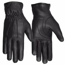 Hugger Affordable Men's Cruiser Driving Dressing Motorcycle Gloves 3 Seam Padded