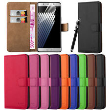 Wallet Book Flip Leather Case Cover For Various Samsung Galaxy Mobile Phones