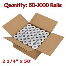 "50-200 Rolls Case 2 1/4"" x 50' Thermal Cash Register POS Receipt Paper Free Ship"