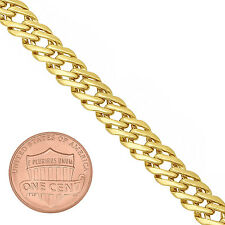 Men's 7.4mm 14K Yellow Gold-Plated Double Layered Venetian Link Chain