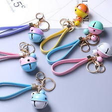 Bell PU Leather Chain Pendant Lobster Clasp Keyring Keychain Purse Bag Accessory