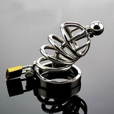 New High quality Male Chastity Device Bird Lock Stainless Steel Cock Cage A502