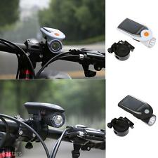 Outdoor Solar Bike Light LED Bicycle Front Head Light USB Rechargeable Headlight