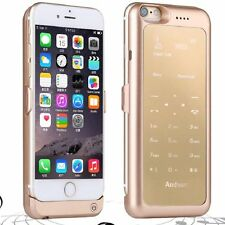 Mini Double Standby GSM Dual SIM Case Backup Battery Cover For iPhone 6/6s Plus