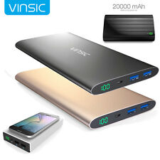 Vinsic Power Bank 20000mAh/15000mAh/12000mAh External Battery Charger Dual USB