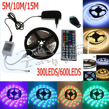 5M 10M 15M 3528 RGB/White SMD Flexible Light LED Strip DC12V PowerSupply Remote
