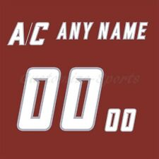 NHL All Star Game 2002 Red Jersey Customized Number Kits un-sewn