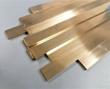 "CZ121 Brass 1/2"" x 1/8"" (12.7 x 3.2mm) Flat Bar 100mm, 150mm, 300mm & 600mm long"