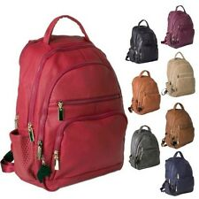 Big Handbag Shop Unisex Faux Leather Multi Compartment Laptop Work Backpack