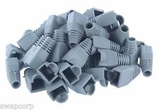 Boots CAT5E CAT6 RJ45 Ethernet Network Cable Strain Relief Boots Gray