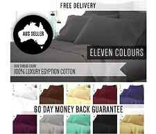1000TC EGYPTIAN COTTON BED SHEET SET AUS SIZE 4 PIECES FITTED FLAT PILLOWCASES
