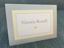 Double Mounted | Plain & Simple | Love Heart | Wedding Guest Name Place Settings