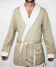 NERO PERLA  MEN Kimono Dressing Gown Bath Robe Lingerie long sleeve cotton 165$