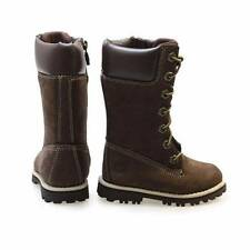 NWT Timberland Aspht Trl CLS Tall Little Kids Brown Leather Boots Size 6 & 7
