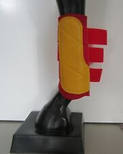 Horse Exercise & Jumping Boots Red & Yellow AUSTRALIAN MADE Pick your size