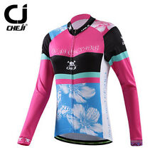 Cheji Women Winter Cycling Clothing Long Sleeve MTB Bike Bicycle Jersey Jacket