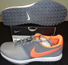 NEW NIKE LUNAR MONT ROYAL GOLF SHOES, GREY/CRIMSON, SIZE 9.0 MEDIUM, $130