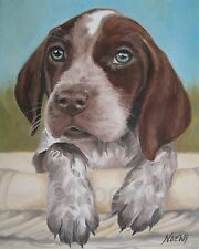 GERMAN SHORTHAIRED POINTER signed PRINT dog puppy portrait by NOEWI animal