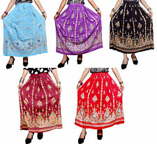Apparels India 5Pcs-100pcs Embroidered Work USA Hippie Long Skirts Wholesale Lot
