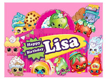 Shopkins Edible Birthday Party Cake Cupcake Or Cookie Topper Decoration Icing