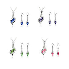 2016 Necklace Hot Fashion 1 Set NEW Crystal Combination Earrings Austrian HOT
