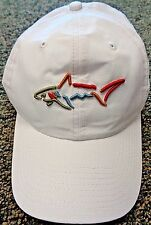 NEW Greg Norman SHARK Golf Hat, WHITE, Adjustable, POLYESTER, Lightweight, Sport