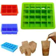 Silicone 4/6/8/15/20-Cavity Cube Ice Pudding Jelly Maker Mold Mould Tray Tool 07