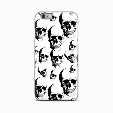 Skull Soft TPU Rubber Silicone Cover Case For iPhone 4 4S 5 5S 5c SE 6 6S Plus