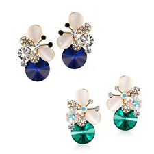 1 pair Jewelry Charm Rhinestone Asymmetric Women Elegant Butterfly Stud Earrings