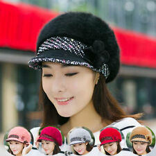 NEW Winter Women Warm Knit Crochet Slouch Baggy Beanie Beret Hat Crochet Cap ^^^